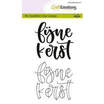 Clearstamps A6 Handlettering - Fijne kerst