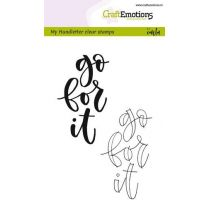 Clearstamps A6 Handlettering - Go for it