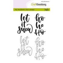 Clearstamps A6 Handlettering - Let it snow
