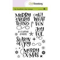 Clearstamps A6 Handlettering - Merry X-mas (Eng) Carla Kamphuis