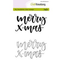 Clearstamps A6 Handlettering - Merry X-mas