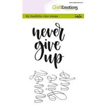 Clearstamps A6 Handlettering - Never give up