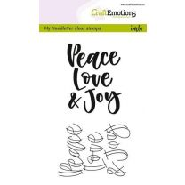 Clearstamps A6 Handlettering - Peace love joy