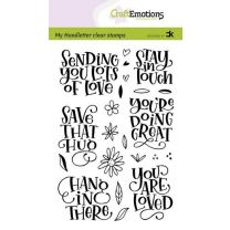 Clearstamps A6 handlettering - Sending you lots of love, Carla Kamphuis