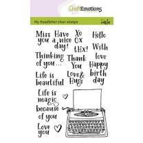 Clearstamps A6 handlettering - typewriter quotes (eng) Carla Kamphuis