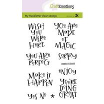 Clearstamps A6 handlettering - Wish you were here, Carla Kamphuis