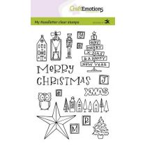 Clearstamps A6 Handlettering - X-mas decorations 1 (Eng) Carla Kamphuis