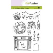 Clearstamps A6 Handlettering - X-mas decorations 2 (Eng) Carla Kamphuis