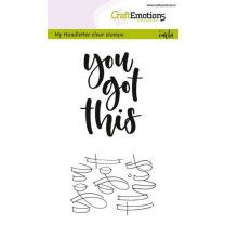 Clearstamps A6 Handlettering - You got this