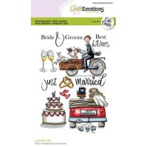 Clearstamps A6 - Just married Carla Creaties