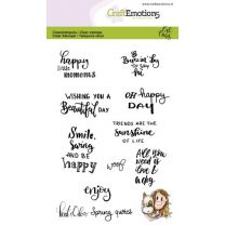 Clearstamps A6 - Kaat en Odey Spring quotes