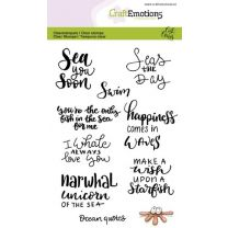Clearstamps A6 - Ocean quotes (Eng) Carla Creaties