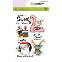Clearstamps A6 - Santa on holiday 1 Carla Creaties