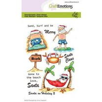Clearstamps A6 - Santa on holiday 2 Carla Creaties