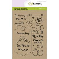 Clearstamps A6 - Wedding (Eng)