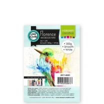 Florence aquarelpapier smooth white 300g A6 20 vel