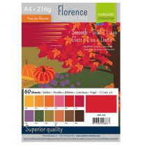 Florence cardstock smooth A4 multipack 12 x 5 vel - autumn