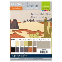 Florence cardstock smooth A4 multipack 12 x 5 vel - earth tones