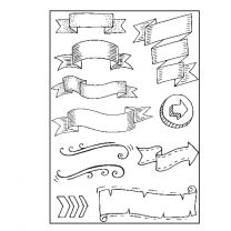 Paperfuel Clear stamps A5 banners
