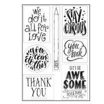 Paperfuel Clear stamps A5 quotes