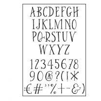 Paperfuel Clear stamps A6 alphabet curve