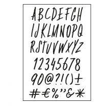 Paperfuel Clear stamps A6 alphabet funky