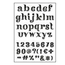Paperfuel Clear stamps A6 alphabet get them stripes