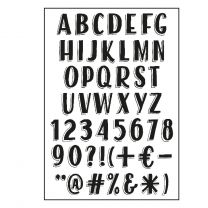 Paperfuel Clear stamps A6 alphabet vintage