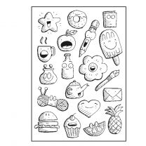 Paperfuel Clear stamps A6 doodles