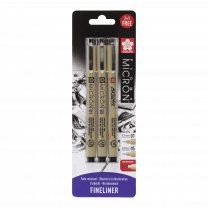 Pigma Micron set fineliners 01, 05 + gratis brush