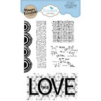 ECD Clear stamps - Background stamps 3
