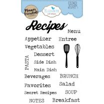 ECD Clear stamps - Kitchen recipes 1