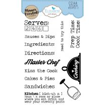 ECD Clear stamps - Kitchen recipes 2