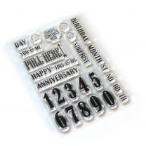 ECD Clear stamps Pieces of life 1 - Numbers & more