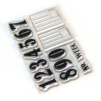 ECD Clear stamps Pieces of life 2 - Numbers & labels