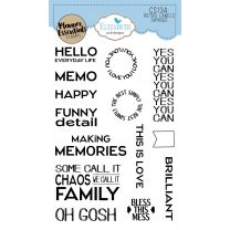 ECD Clear stamps - Retro label sayings