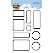ECD Clear stamps - Retro labels
