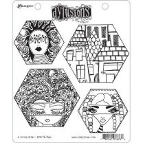 Dylusions cling mount stamp set - A head start