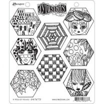 Dylusions cling mount stamp set - A heck of hexies