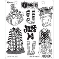 Dylusions cling mount stamp set - Just be