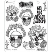 Dylusions cling mount stamp set - Pandemic