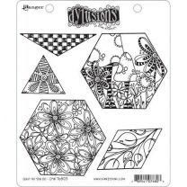 Dylusions cling mount stamp set - Quilt as you go