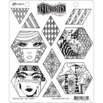 Dylusions cling mount stamp set - Quiltalicious