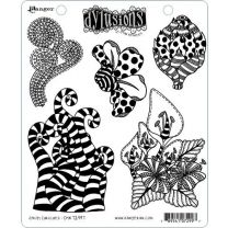 Dylusions cling mount stamp set - Stripy Curlicues