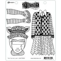 Dylusions cling mount stamp set - The ties the limit!