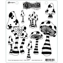 Dylusions cling mount stamp set - There's not mushroom in here!