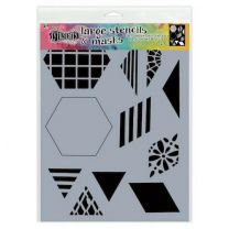 Dylusions stencil large - 2 inch quilt