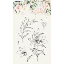 Clear stamps A6 Lily flower - Another love story nr. 4