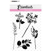 Clear stamps A7 silhouette Flowers/leaves nr. 22