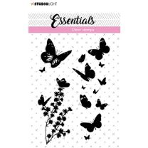 Clear stamps A7 silhouette Butterflies nr. 24